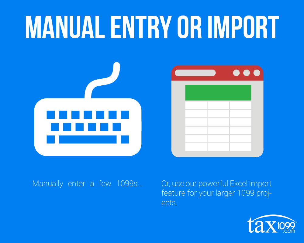 Manual Entry or Import