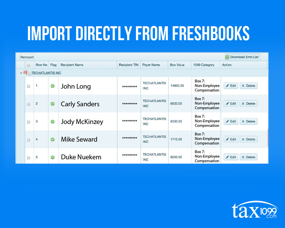Import Directly From Freshbooks